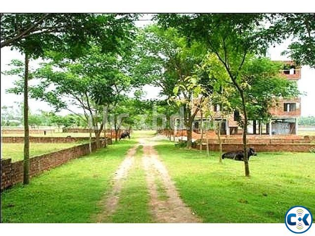 Ashulia Model Town plot for sale | ClickBD large image 1