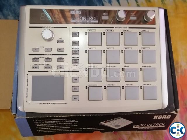 Korg padKONTROL Drum Pad MIDI Controller with X Y Pad | ClickBD large image 0