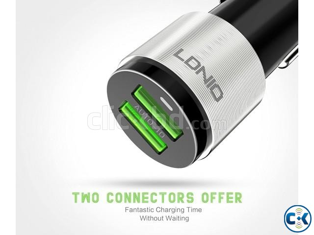 LDNIO C4303 Dual USB Port 4.2A Quick Car Charger with Androi | ClickBD large image 2