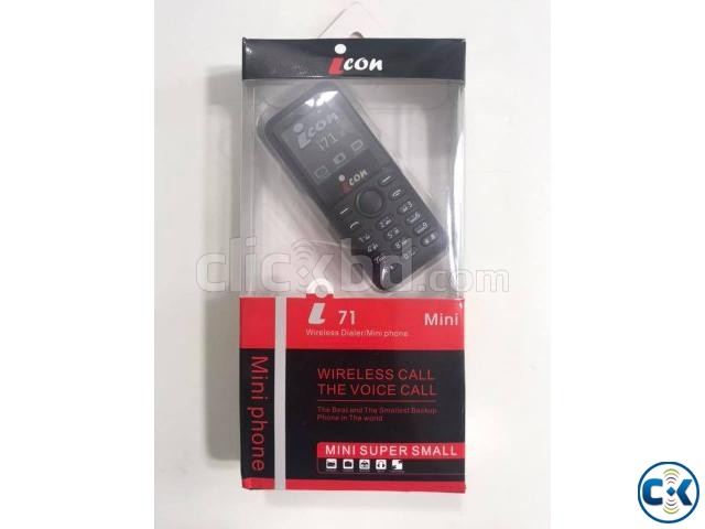 icon i71 Mini Phone Dual Sim With Warranty | ClickBD large image 1
