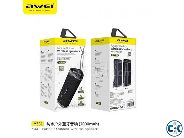 Awei Y331 waterproof Wireless Bluetooth Speaker- Original | ClickBD large image 0