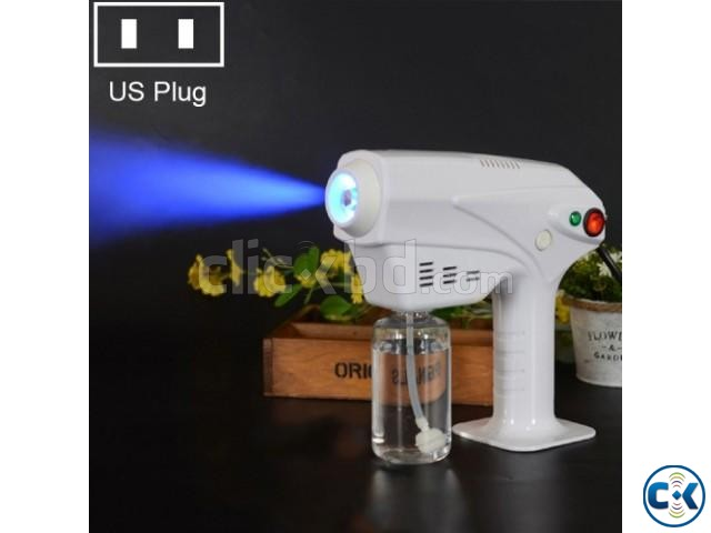 Professional Blue LED light Alcohol Sterilizer Mist Spray Gu | ClickBD large image 3