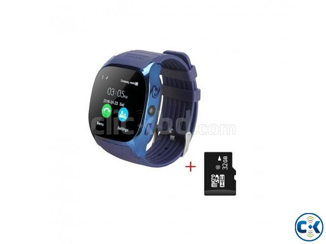 T8 SMARTWATCH BLUETOOTH CAMERA- BLUE | ClickBD large image 0