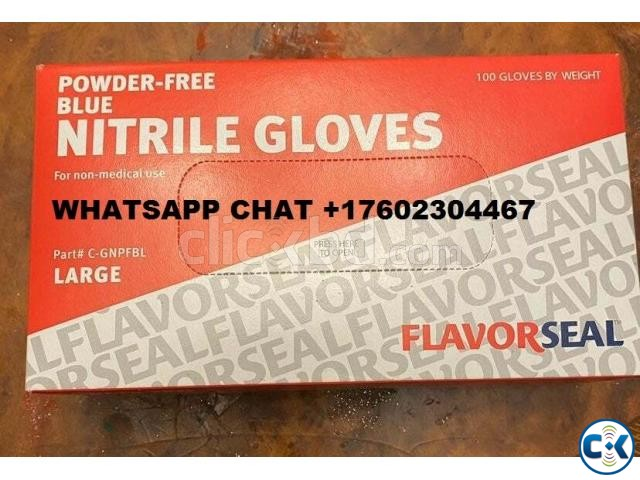 Nitrile Hand Glove Free Blue | ClickBD large image 0