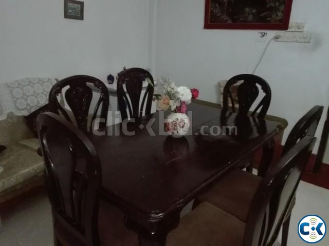 Dining table with chairs. | ClickBD large image 0