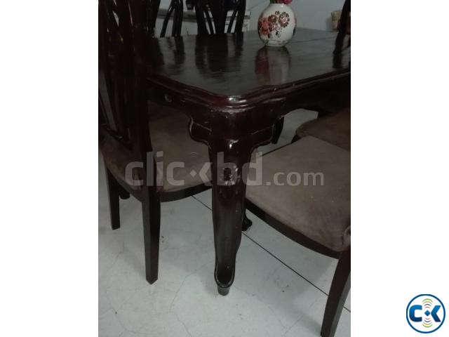 Dining table with chairs. | ClickBD large image 2