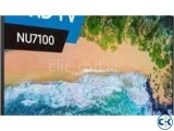 Samsung NU7100 smart television has 55 inch flat screen