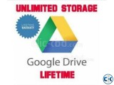 Unlimited Google Drive for Lifetime