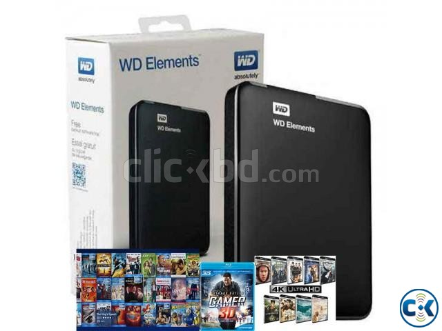 PORTABLE HARD DRIVE With 200 3D BLURAY MOVIES TV | ClickBD large image 0