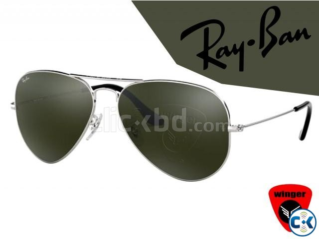 Ray-Ban Pilot Aviation Sunglass 3 Silver Green  | ClickBD large image 0