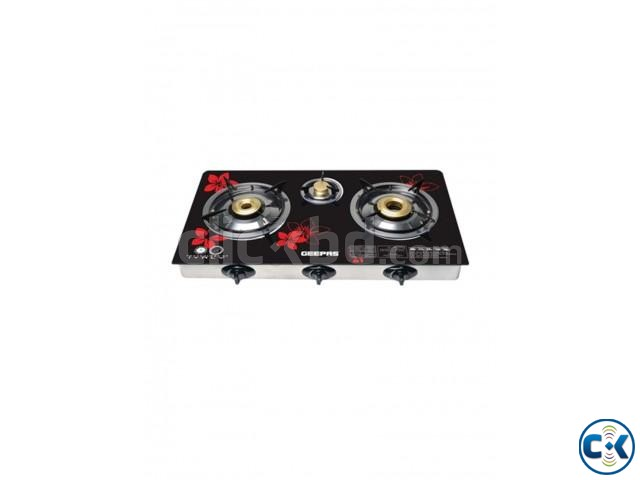 Geepas GK67593 Auto Ignition 3 Burner Steel Frame Gas Stove | ClickBD large image 2