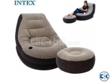 intex Inflatable Relaxing Single Air Chair Sofa With Foot Re