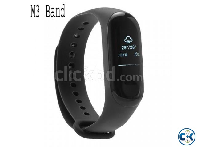 M3 Smart Band Blood Pressure Monitor Smartwatch Fitness Trac | ClickBD large image 1