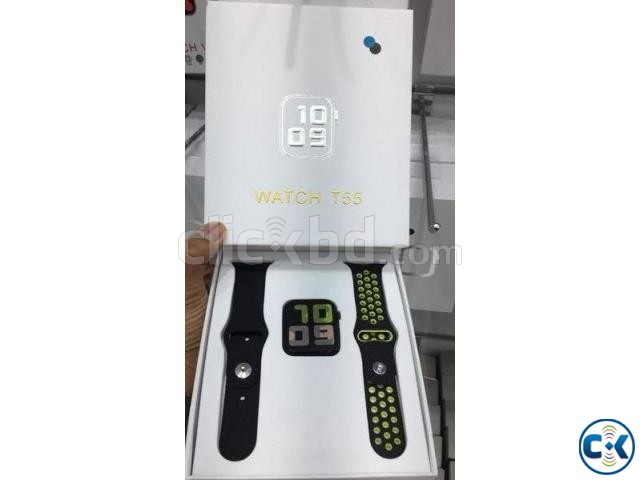 T55 44MM Smart Watch Waterproof Heart Rate Blood Pressure Fi | ClickBD large image 1