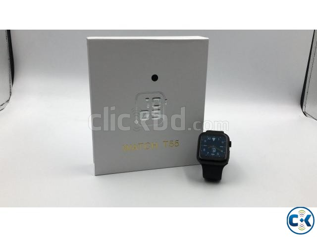 T55 44MM Smart Watch Waterproof Heart Rate Blood Pressure Fi | ClickBD large image 2