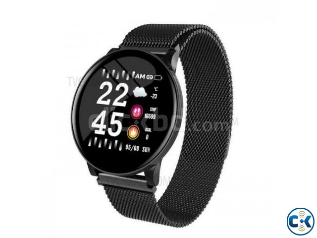 W8 Plus Metal Smart Watch OLED Color Screen Heart Rate Monit | ClickBD large image 0