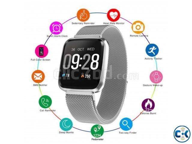 Y7 Smartwatch Waterproof Blood Pressure Pedometer Magnetic M | ClickBD large image 1