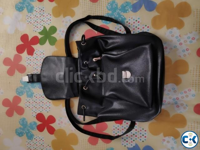 New Pure Leather Bag Pack Big Size Premium Quality  | ClickBD large image 0
