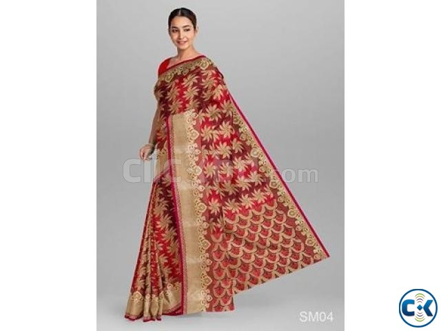 Silk Saree | ClickBD large image 4