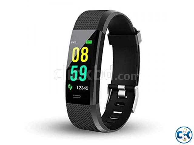 Smart Band Watch 115 Plus Fitness Tracker Blood Pressure | ClickBD large image 0
