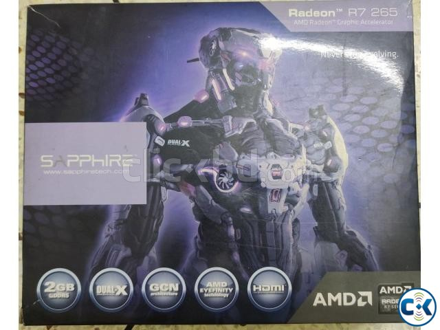 Sapphire Radeon R7 265 2GB DDR5 Dual-x Antec VP500PC | ClickBD large image 2