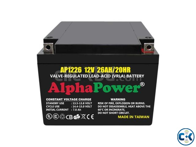 AlphaPower Battery 12V 26Ah 20HR for UPS Others Taiwan | ClickBD large image 0