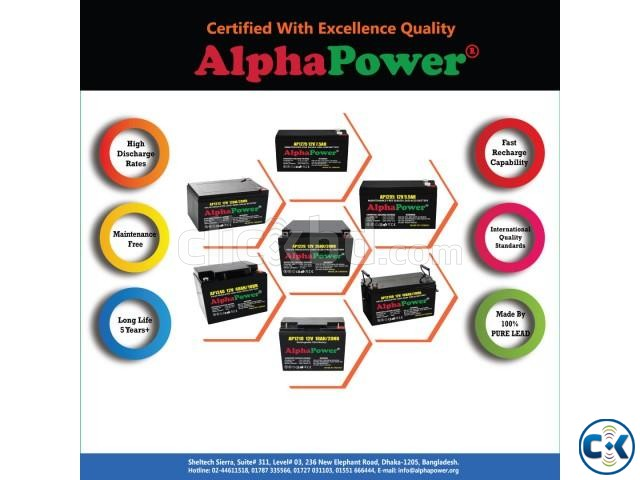 AlphaPower Battery 12V 26Ah 20HR for UPS Others Taiwan | ClickBD large image 1