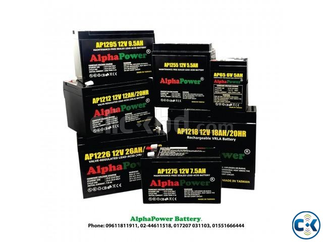 AlphaPower Battery 12V 26Ah 20HR for UPS Others Taiwan | ClickBD large image 2