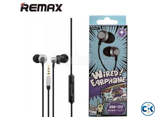 Remax RM 512 Wired Earphone Price in Bangladesh | ClickBD large image 0