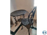 Antique Table with chairs for garden veranda living room