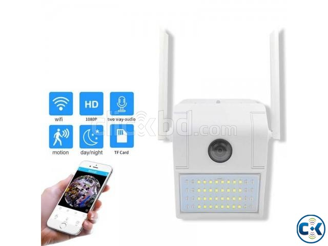 V380 Wifi Wall Lamp Camera Water-Proof Night Vision | ClickBD large image 0