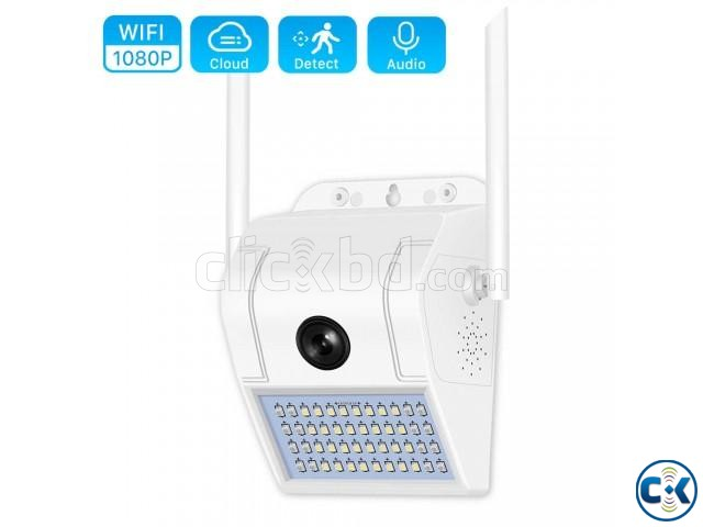 V380 Wifi Wall Lamp Camera Water-Proof Night Vision | ClickBD large image 1