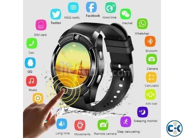 V8 sim support smart watch android smartwatch | ClickBD large image 0