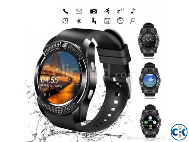 V8 sim support smart watch android smartwatch | ClickBD large image 1