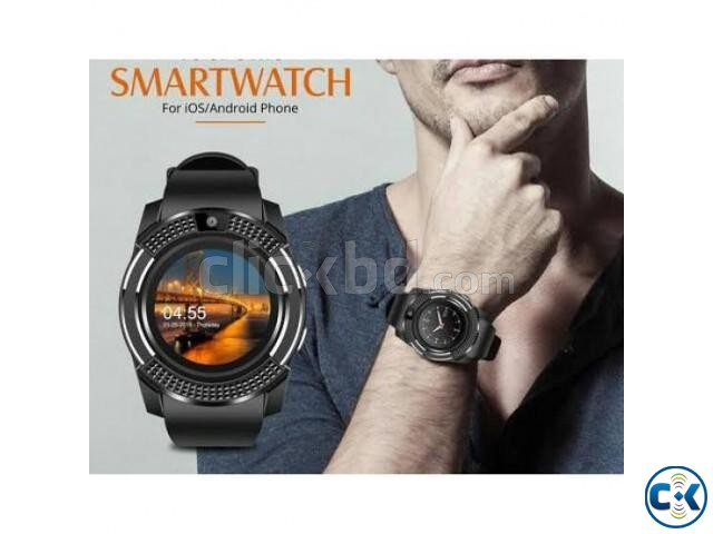 V8 sim support smart watch android smartwatch | ClickBD large image 2