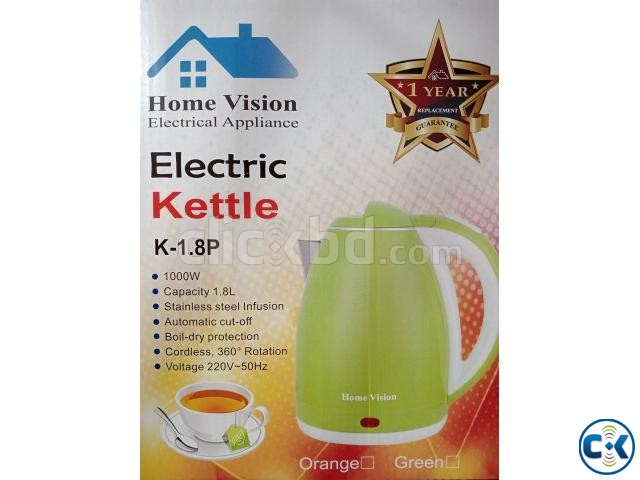Home Vision 1.8L Electric Kettle Plastic Body  | ClickBD large image 1