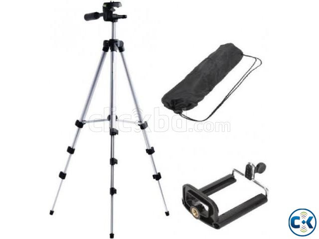 Tripod Mobile camera stand white and black | ClickBD large image 1