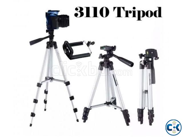 Tripod Mobile camera stand white and black | ClickBD large image 3