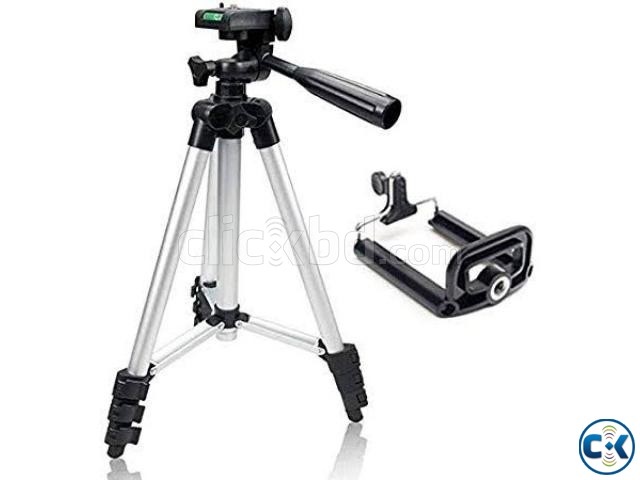 Tripod Mobile camera stand white and black | ClickBD large image 4