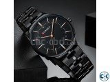 CURREN 8321 Black Stainless Steel Analog Watch For Men