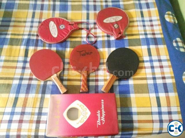New Table Tennis Cricket Bat Ball Combo Package Offer | ClickBD large image 0