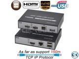 HDMI KVM Extender Over IP Network with mouse