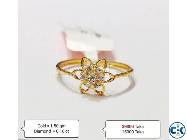 Diamond with Gold Ring 50 OFF | ClickBD large image 1