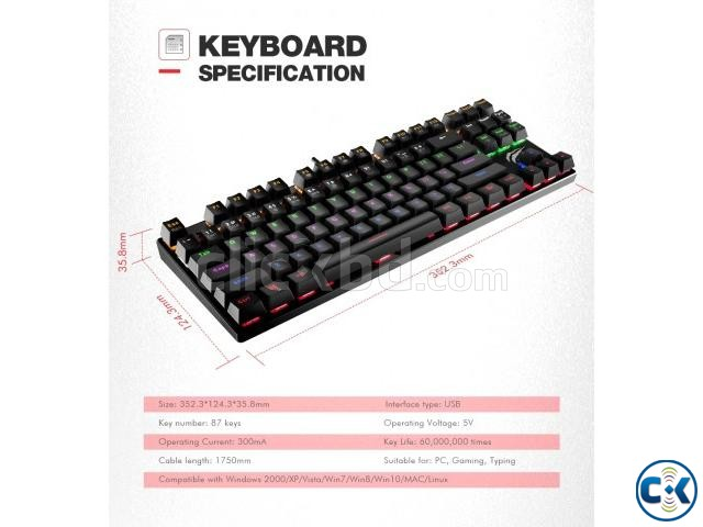 GAMENOTE RGB BLUE SWITCH GAMING MECHANICAL KEYBOARD | ClickBD large image 1