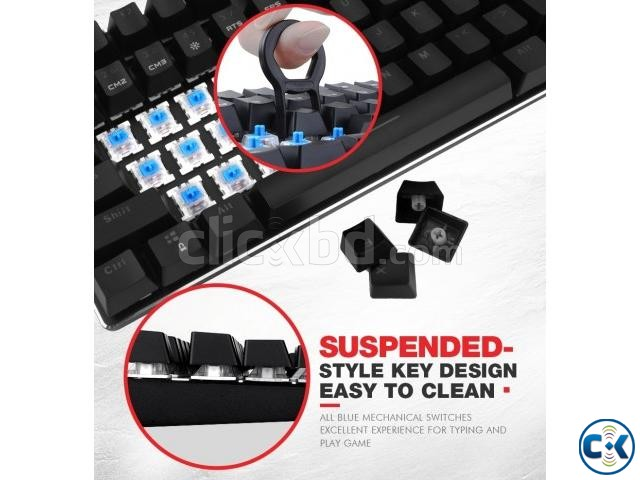 GAMENOTE RGB BLUE SWITCH GAMING MECHANICAL KEYBOARD | ClickBD large image 3