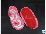 100 COTTON Baby Crochet Shoes With Heavy Duty Sole