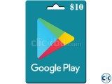 10 usd Google Play Gift Card