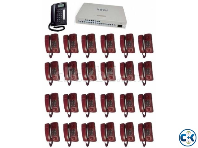 PABX System 24 Line 24 Telephone Set Full Package | ClickBD large image 0