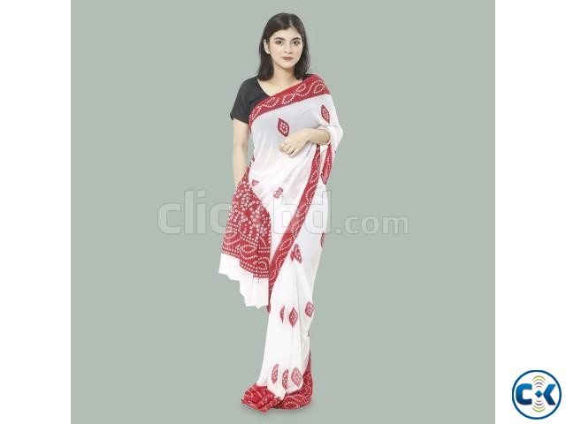 Weightless Georgette Saree With Blouse Piece | ClickBD large image 0