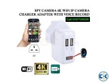 Spy Camera Charger Wifi IP Cam Live Video with Voice Record